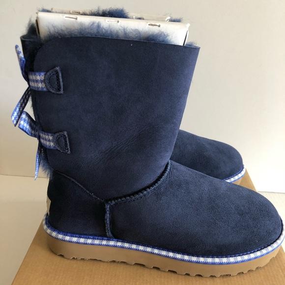 580f343f657 Ugg Women's Bailey Bow Boots Size 7 NIB Navy Blue NWT